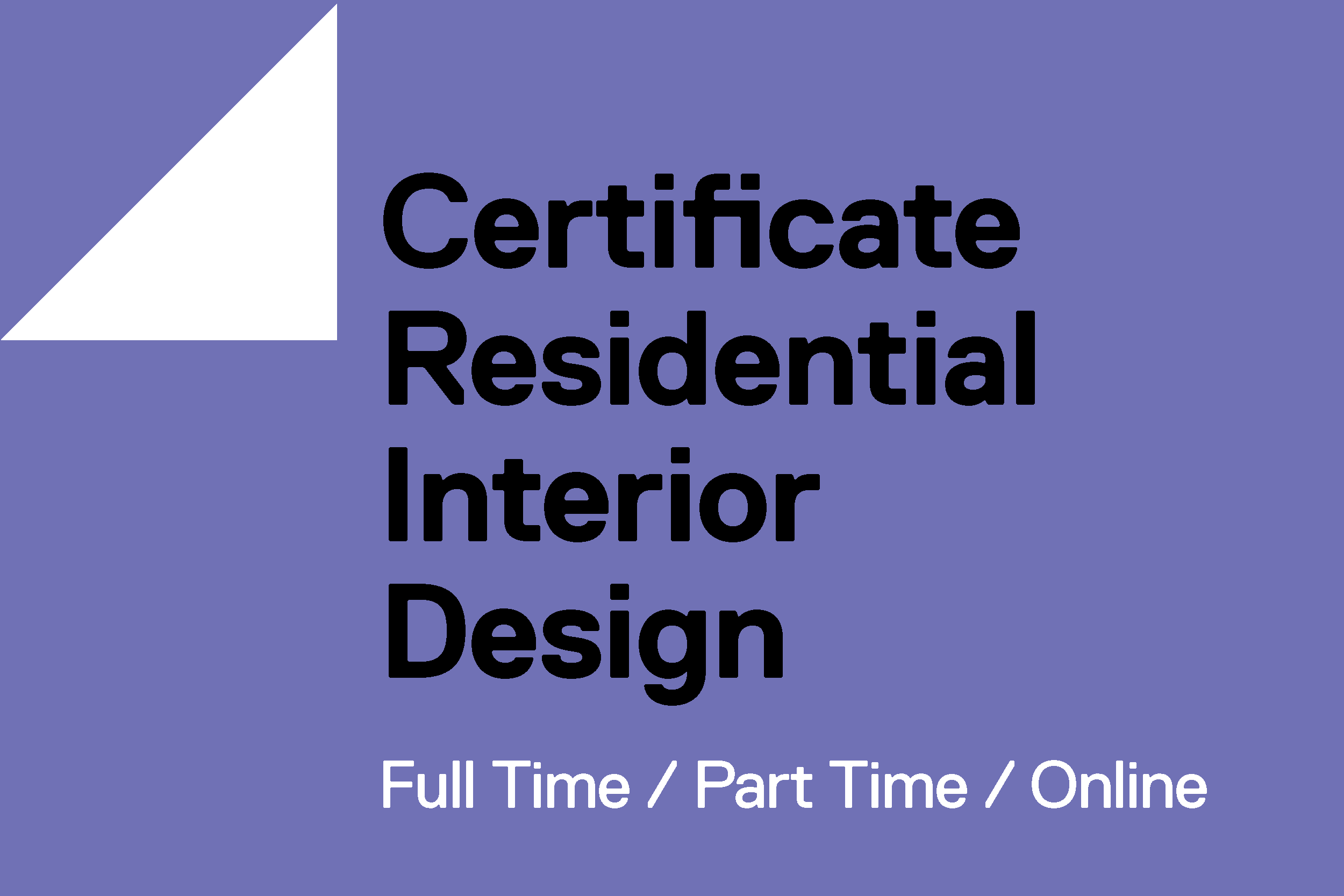 Thumbnail Graphic Certificate Residential Interior Design